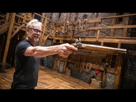 Adam Savage Examines the Props of Hamilton!