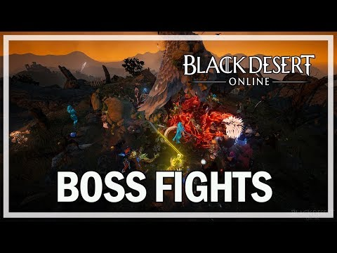 Black Desert Online Learning World Bosses - Dark Knight Gameplay