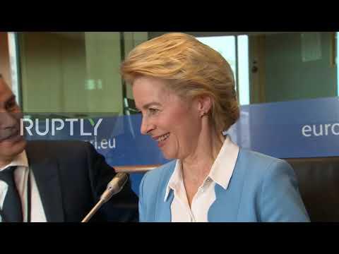 Belgium: Von der Leyen meets with MEPs in bid to become EU Commission chief