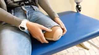Repeat youtube video Zakładanie silikonu/linera w systemie pin+zamek, założenie protezy nogi (pierwsza próba pacjenta).