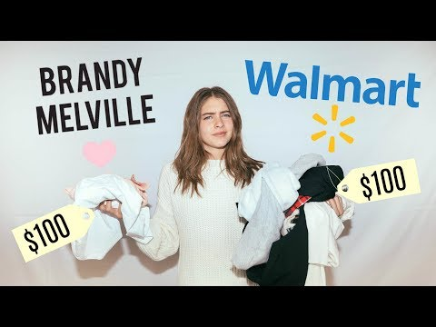 $100 CHALLENGE: WALMART vs. BRANDY MELVILLE