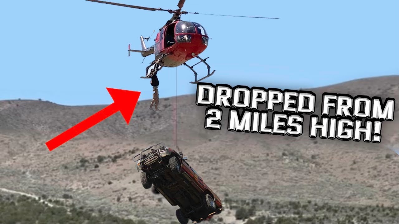 We Dropped WhistlinDiesel's Truck From A Flying Helicopter (2 Miles High!)