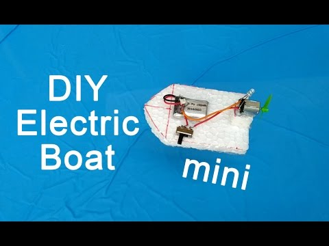 How To Make A Mini Speed Boat Electric #diy