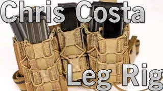 Airsoft Gi - Hsgi Chris Costa Leg Rig With Double Decker Taco Pouches And Pistol Pouch