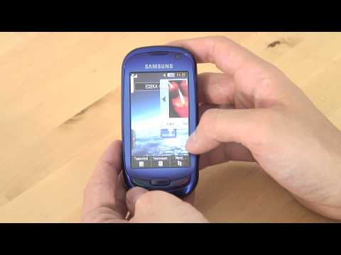 Samsung GT S7550 Blue Earth Test Bedienung