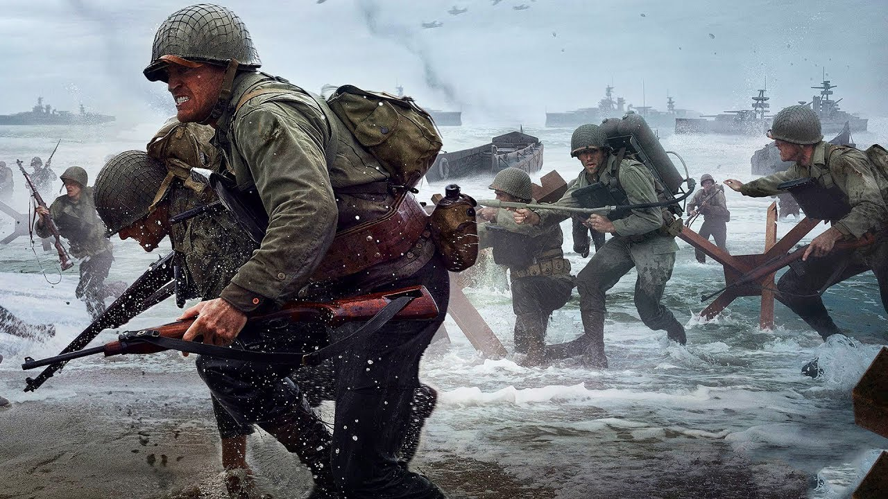 4K MAX SETTINGS REALISM D-DAY Normandy Beach Landing - Call of Duty: WWII 4K Graphics (COD WW2)
