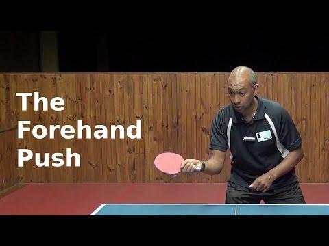 Forehand Push | Table Tennis | PingSkills