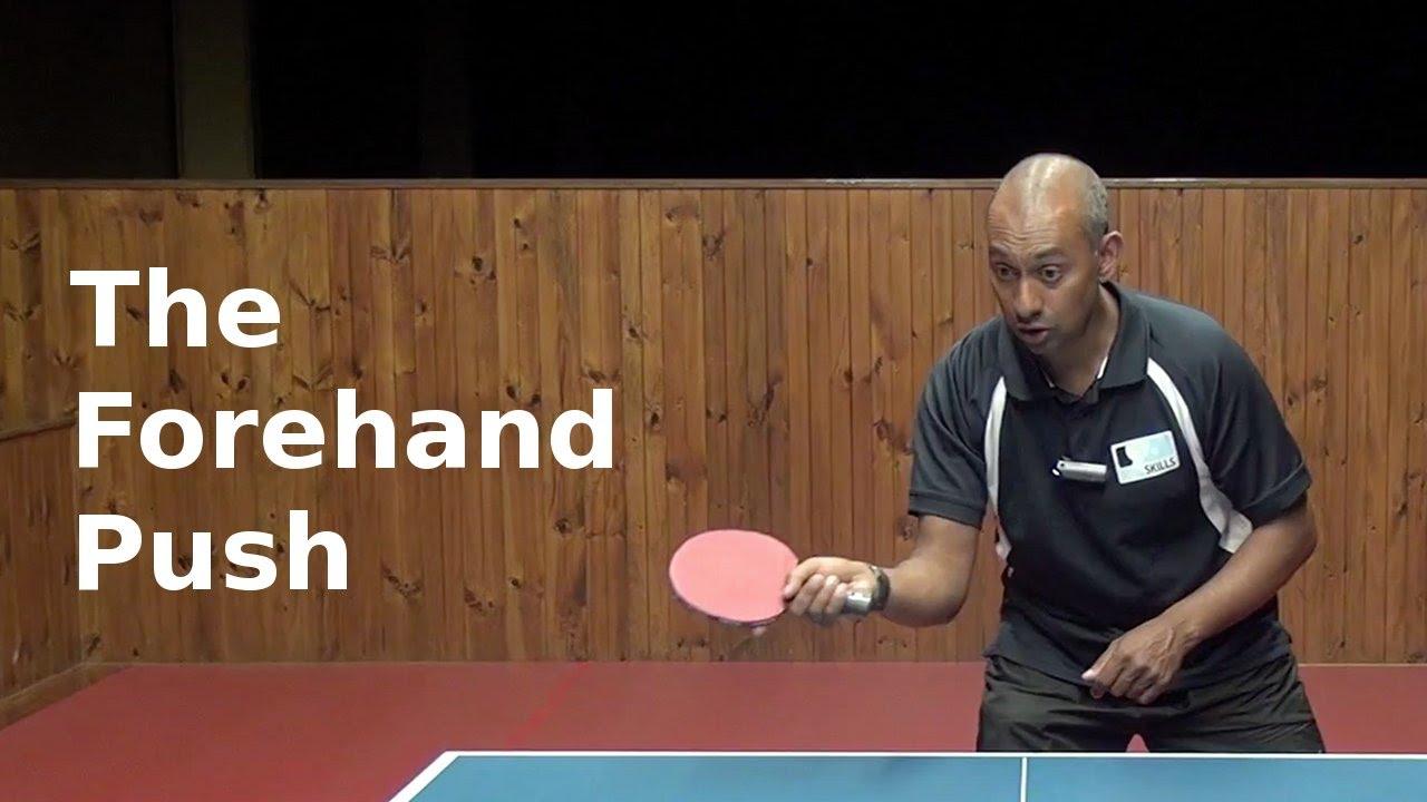 Forehand Push   Table Tennis   PingSkills
