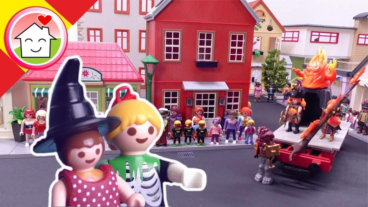 Playmobil en español El desfile de Halloween - La Familia Hauser