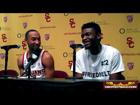 Jordan McLaughlin, Chimezie Metu talk career night against UC Santa Barbara