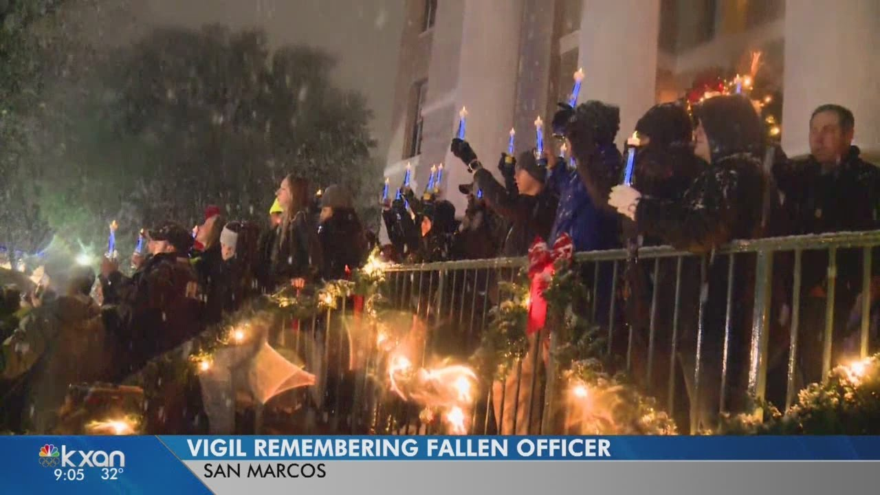 Candlelight vigil held to remember fallen Officer Kenneth Copeland