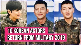 10 Korean Actors Who Will Return From The Military In 2019