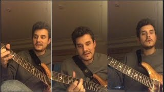 John Mayer Gives Guitar Lessons to his fans | Instagram Live Stream |19 November, 2017 |