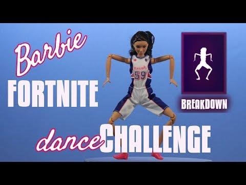 BreakDown - Barbie Fortnite Dance Challenge - Stop Motion Animation - Tall Basketball MTM Doll