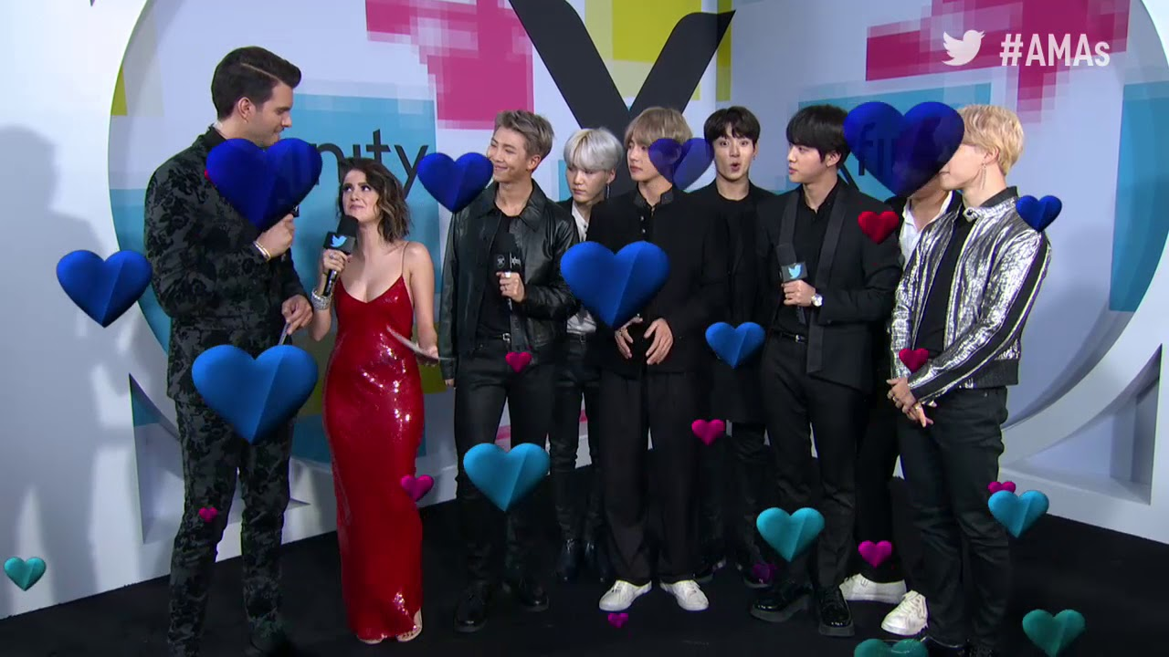 Bts At Amas Red Carpet >> BTS Interview - AMAs Red Carpet 2017 - YouTube