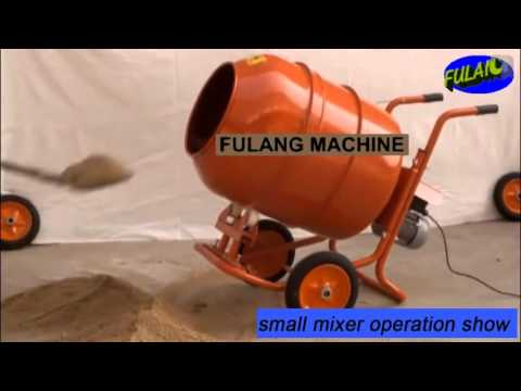 FL300-4 small portable motor horizontal concrete cement mixer