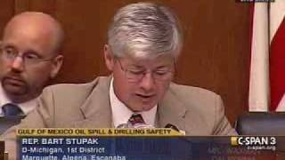 Chairman Bart Stupak Questions Oil Company Executives