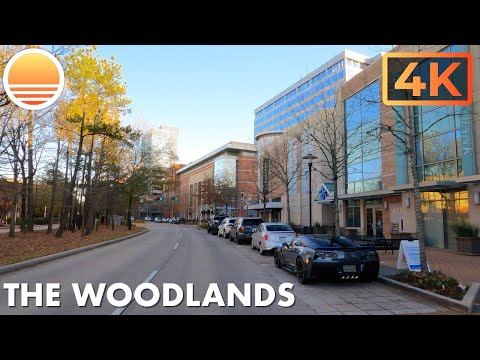 The Woodlands, Texas a Suburb of Houston, Texas. An UltraHD 4K Real Time Driving Tour.
