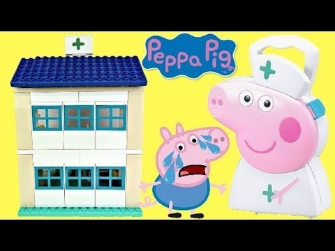 Thumbnail: Nick Jr Peppa Pig Hospital Duplo Construction Set, George Sick! Nurse Carry Case Toy Surprise / TUYC