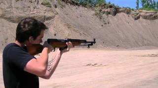 Russian Rifles Shooting. SKS & SVT-40