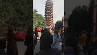 富杰。亞洲第一高木塔。世川靈宮16層