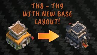 TH8 to TH9 PLUS NEW BASE LAYOUT |CLASH OF CLANS |BASE DESIGN