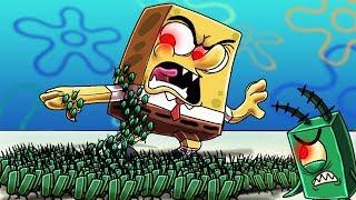 Minecraft | ZOMBIE PLANKTON ATTACKS SPONGEBOB.EXE! (Massive Mob Battles)