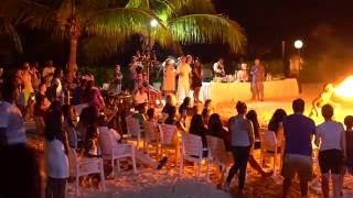 Luxury Grand Bahia Principe Runaway Bay Jamaica Beach Night Event in 4k