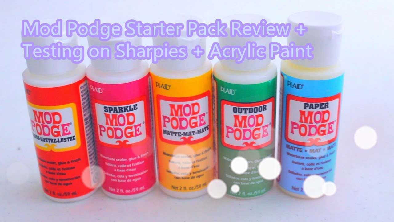 Mod Podge Starter Pack Review \u0026 Testing on Sharpies and Acrylic ...