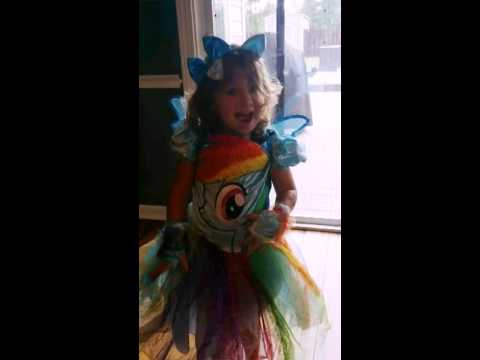 Arianna's Rainbow Dash Halloween Costume 2015