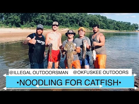 NOODLING FOR CATFISH IN OKLAHOMA