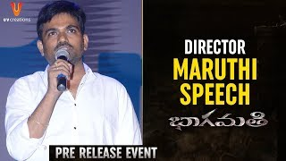 Maruthi Speech | Bhaagamathie Movie Pre Release Event | Anushka | Unni Mukundan | Thaman S