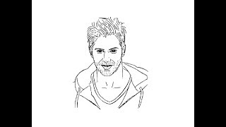 How to Draw Varun Dhawan face pencil drawing step by step
