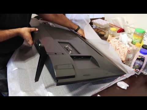 LG 2016 4k 43UH6100 / 43UH610A IPS TV Display Unboxing and Setup