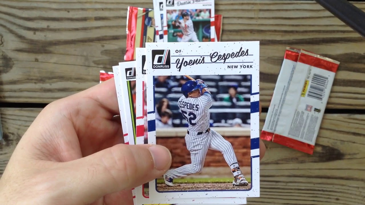 At Thirdbasecards Opens 4 Dollar Store Packs Of 2017 Donruss Baseball Cards Just 4 Cards Per Pack