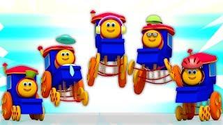 Bob trem Dedo Família | natal canções para crianças | Feliz Natal | Bob Train Finger Family