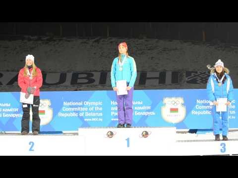 JWCH 2015. National Anthem Of Ukraine For Anna KRYVONOS