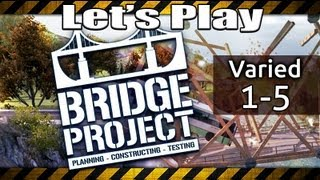 BRIDGE PROJECT Walkthrough - Varied Map 1, 2, 3, 4 & 5 (Gameplay Lets Play Best Building Games)