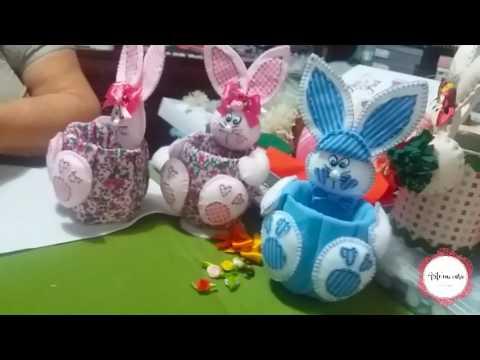 Coelhinhos Da Páscoa Feitos Com Garrafa Pet E Feltro Parte 2 Youtube
