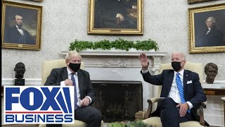 White House staff cuts off UK PM Boris Johnson mid sentence during meeting with Biden