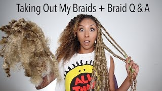 Braids To Curls! Taking Out My Box Braids + Curly Wash Routine! | BiancaReneeToday