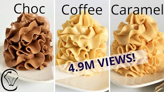 Condensed Milk Buttercream COMPILATION Chocolate Coffee Caramel SILKY SMOOTH No Grit No Icing Sugar