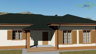 ФОКС B-043. Проект одноэтажного дома на 4 спальни с функциональной планировкой