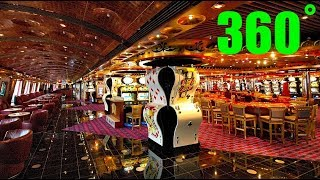 Carnival Splendor Tour 360˚ Deck 5 - Walking past the Casino