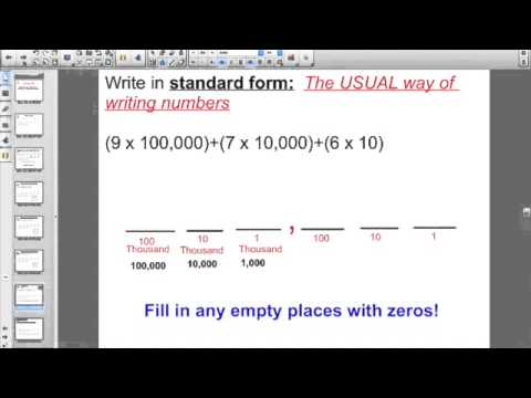 Lesson 48 Reading And Writing Whole Numbers In Expanded Notation
