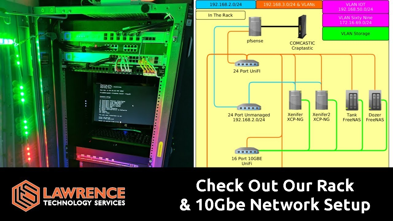 check out our rack servers network 10gbe cabling tour and the unifi us 16 xg [ 1280 x 720 Pixel ]