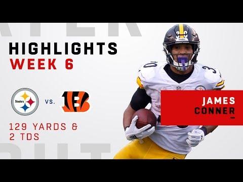 James Conner Scores 2 TDs vs. Bengals