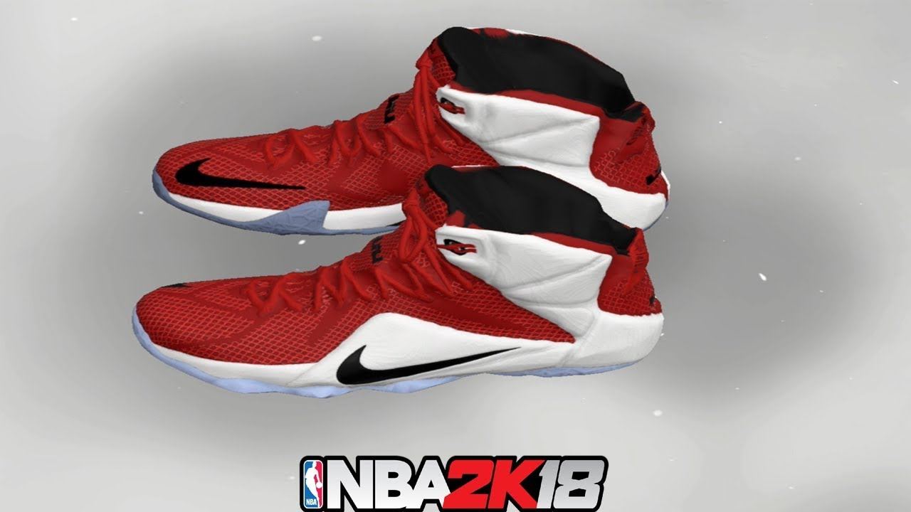 NBA 2K18 Shoe Creator ⋆#NBA2K18⋆ LeBron 12 Heart Of Lion