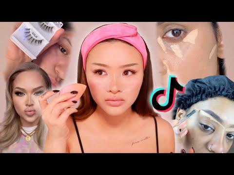 Full Face of Tik Tok Makeup Hacks 🤔✨   SACHEU - YouTube