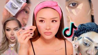 Full Face of Tik Tok Makeup Hacks 🤔✨ | SACHEU